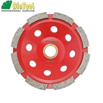 цена на DIATOOL 4inch Diamond Single Row Cup Wheel For Concrete, Grinding Disc, Diamond Grinding Wheel, Diameter 100mm Bore 22.23mm