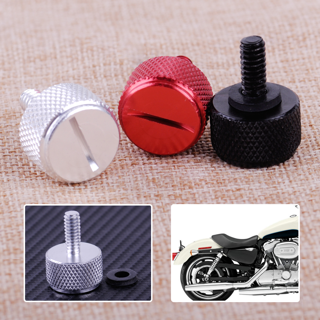 Covers & Ornamental Mouldings Citall Motorcycle 1/4-20 Knurled Seat Screw Bolt Fit For Harley Sportster Wide Glide Roadking Streetbob Dyna Softail Touring To Have Both The Quality Of Tenacity And Hardness Motorcycle Accessories & Parts