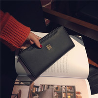 Famous Brand Designer Women S Leather Wallet High Quality Bi Fold Long Phone Wallets Credit Card