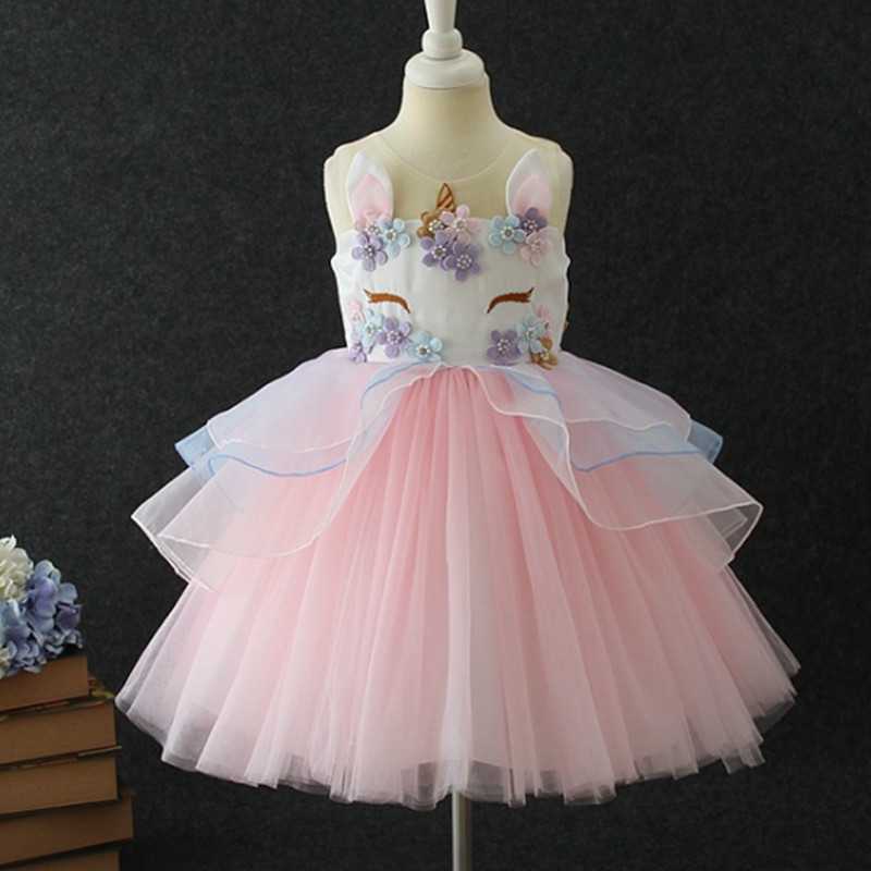 HTB1Tsd5f XYBeNkHFrdq6AiuVXa5 New Girls Dress 3Pcs Kids Dresses For Girl Unicorn Party Dress Christmas Carnival Costume Child Princess Dress 3 5 6 8 9 10 Year