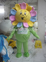 flower mascot costumes beautiful sun flower costumes not include logo rainbow flower walking actor