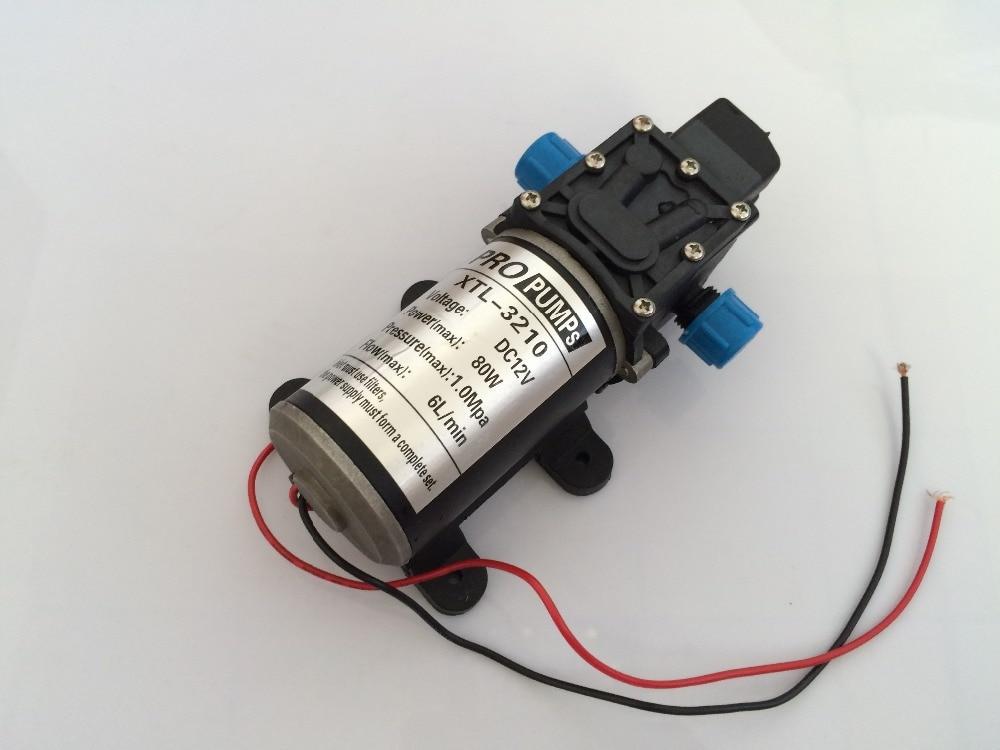 ФОТО 2pcs/ Lot Micro electric diaphragm pump Self-Priming pump 3210YB 12V 80W 6L/min High pressure Large flow For Car wash