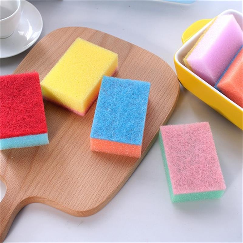 Image 5 - 10Pcs Candy colored Decontamination Powerful Colorful Nano Cleaning Magic Sponge Multipurpose Goods Random Color-in Sponges & Scouring Pads from Home & Garden