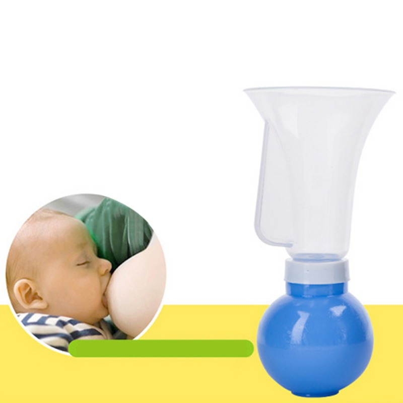 Baby Feeding Manual Breast Pump Partner Breast Collector Automatic Correction Breastmilk Silicone Breast Pump L