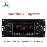 JDASTON Android 8.1 Car DVD Player For Jeep Grand Cherokee Commander Wrangler Chrysler 300C PT Cruiser Sebring Dodge Caliber RAM