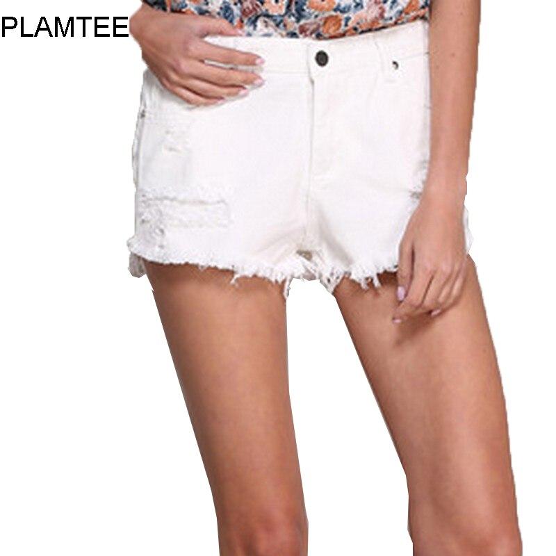 Popular White Jean Short-Buy Cheap White Jean Short lots from ...