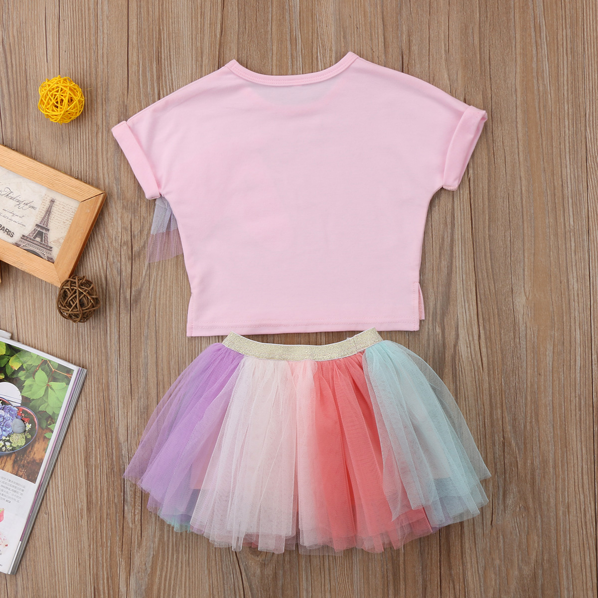 4b0d99ab2f17 Kid Baby Girls Clothes Set Girls Lace Unicorn T shirt Top+Tulle Rainbow  Tutu Skirt Outfits Set Girl Clothing 2018 Summer 6M 5T-in Clothing Sets  from Mother ...