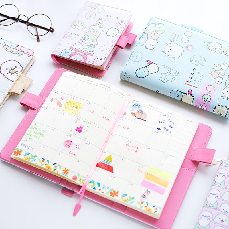 12 73 38 De Reduction A5 B6 Mignon Molang Notebook Hebdomadaire Mensuel Planificateur Calendrier Kawaii Papeterie Agenda Livre Ecole Bureau
