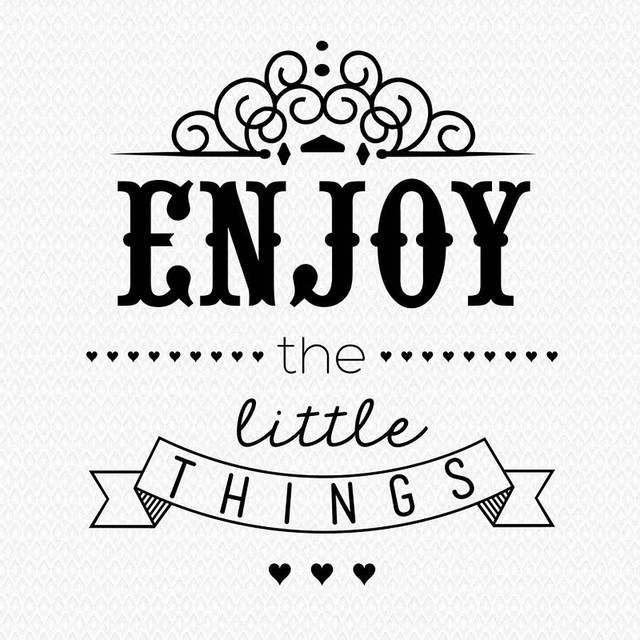 Lovely Childs Nursery Wall Stickersu0027u0027Enjoy The Little Thingsu0027u0027Quotes Wall  Art