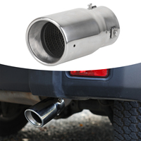 Polished Exhaust Muffler Pipe Stainless Steel Exhaust Silencer Car Tail Tip Rear Throat Liner For Jeep Wrangler JK 2007 2018