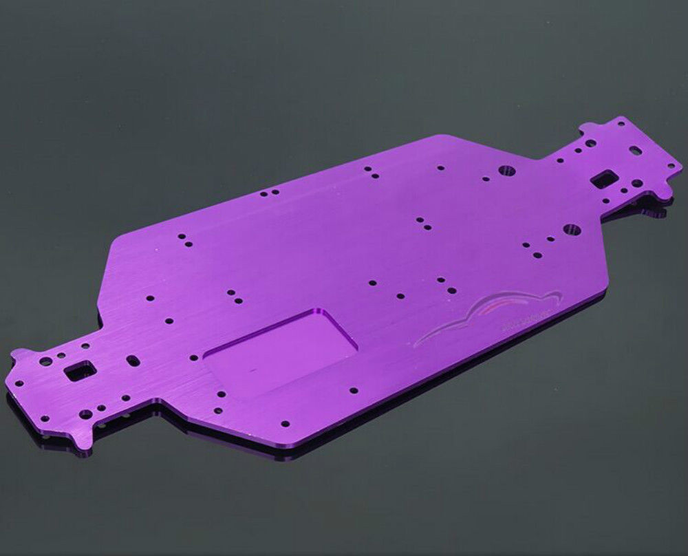 Top Quality HSP 04001 Chassis RC HSP 1:10 Scale Off-Road Buggy Truck Upgrade Parts Purple hsp rc car upgrade parts accessories 04001 03601 metallic chassis hsp 1 10 scale models 94111 of road remote control rc car part