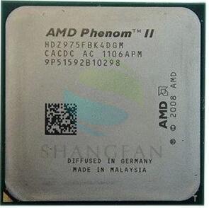 AMD Phenom II X4 975 3 6GHz 6MB 4 cores Socket AM3 938 pin HDZ975FBK4DGM Desktop