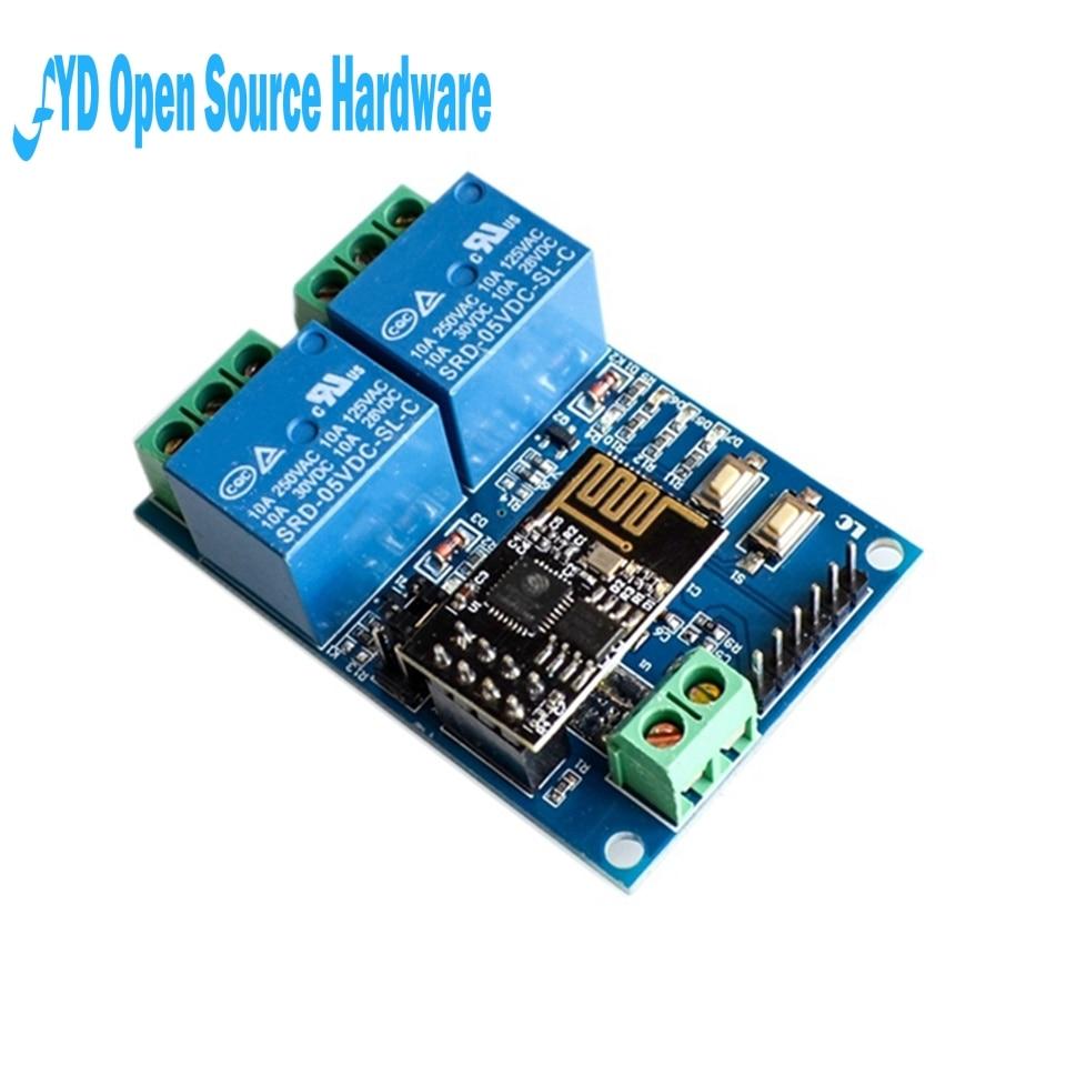 1 шт. 5 в ESP8266 ESP-01 2 WiFi реле канала модуль 2-канальный релейный модуль для IOT Smart Home Phone APP Controller