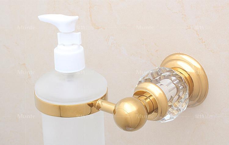 € 34.69 18% de réduction|Cristal de luxe En Verre Décoration Or En Laiton  Mur Main Distributeurs de Savon Liquide Émulsion Bouteille Salle De ...