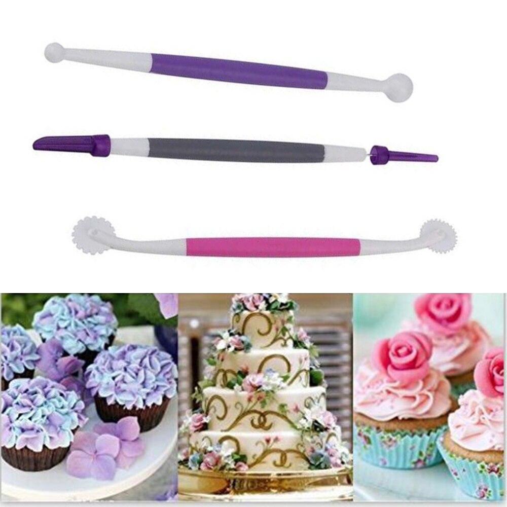 4Pcs/Set Colorful Fondant Brush Cake Decorating Tools ...