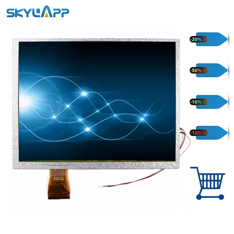 Skylarpu New 10.4 inch TFT LCD screen for AUO A104SN03 V1 V.1 GPS LCD display screen panel Repair replacement (without touch) g065vn01 v1 6 5 inch industrial lcd tft lcd display screen 640 480 ccfl