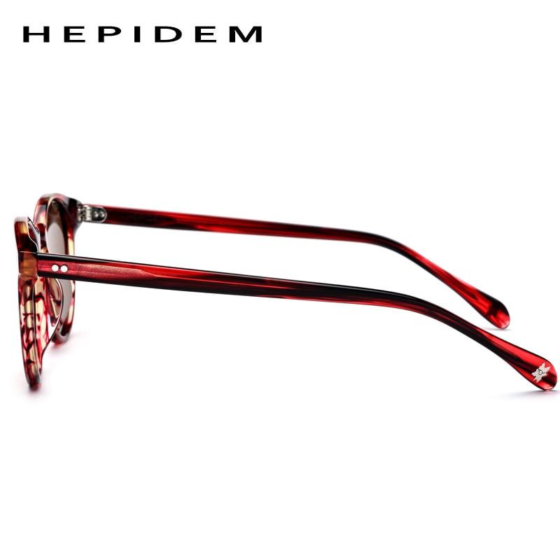 Image 4 - Acetate Polarized Sunglasses Women 2019 New Vintage Retro Circle Round Sun Glasses for Men Women's Transparent Sunglass 9113-in Women's Sunglasses from Apparel Accessories on AliExpress