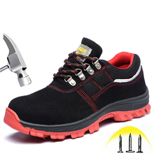 Men's And Wmen's Safety Shoes With Steel Head Construction Site Anti-piercing Wear-resistant Work Shoes Waterproof Safety Boots safety helmet hard hat work cap abs insulation material with phosphor stripe construction site insulating protect helmets