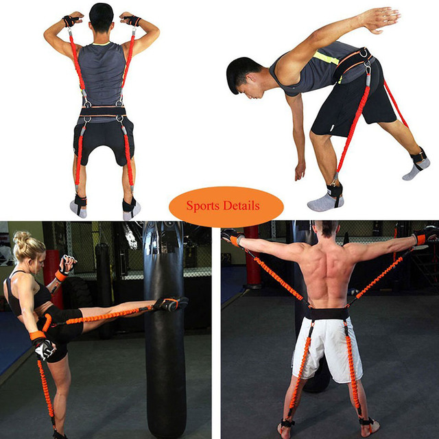 150 lbs Resistance Bands Boxing Crossfit Training Belt Leg Strength and Agility Training Strap for Football Basketball Taekwondo