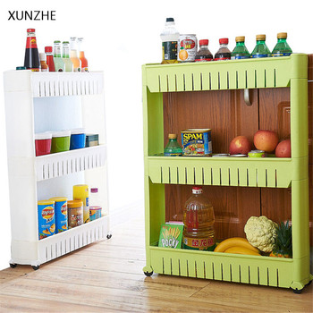 Exceptionnel XUNZHE Creative 3 Layers Removable Gap Storage Rack With Wheels Bathroom  Kitchen Refrigerator Accessories Sundries Organizers