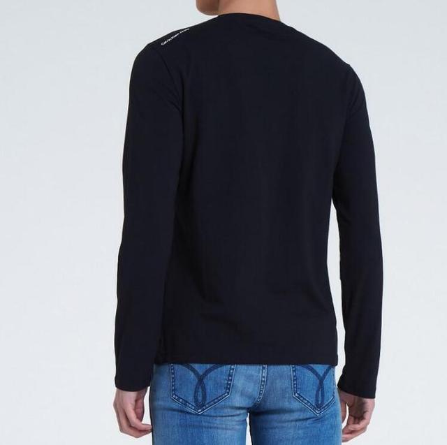 Calvin Klein Jeans Long Sleeved T-shirt CK Mens Slim Cotton Casual Bottoming Shirt Men Youth Popular O-Neck Print Tops Tees