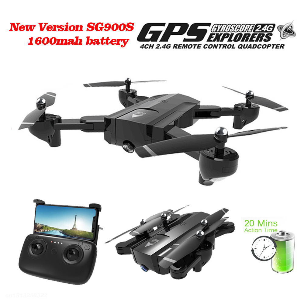 Professional GPS Drones With WIFI FPV 1080P 720P HD Camera SG900S 20minis Flying Follow Me Hold Foldable RC Drone HelicopterProfessional GPS Drones With WIFI FPV 1080P 720P HD Camera SG900S 20minis Flying Follow Me Hold Foldable RC Drone Helicopter