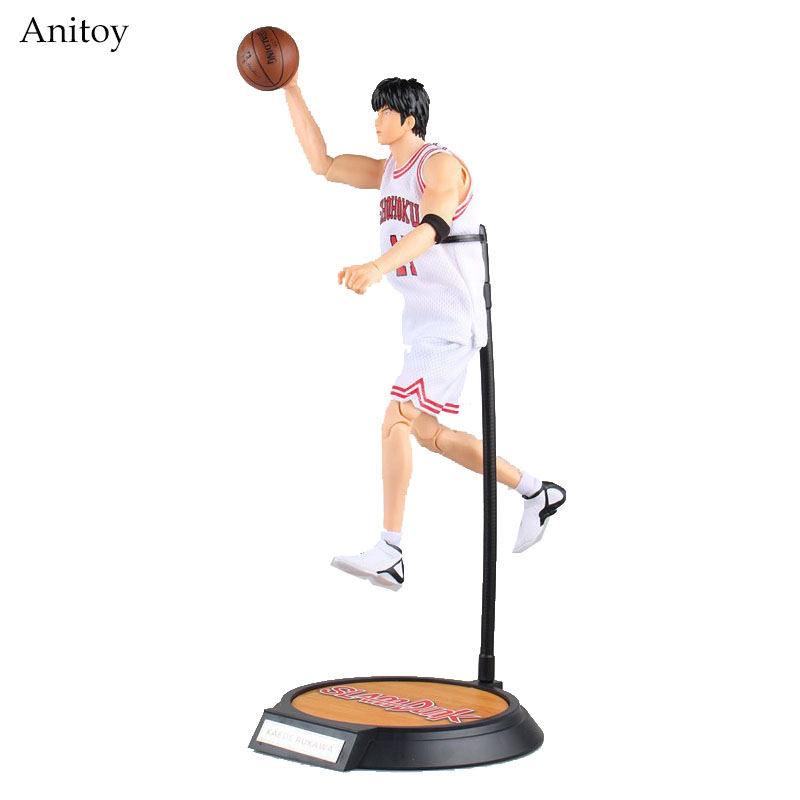 Slam Dunk #11 Rukawa Kaede Variable Doll PVC Action Figure Collectible Model Toy 34cm KT3926 huong anime slam dunk 24cm number 11 rukawa kaede pvc action figure collectible toy model brinquedos christmas gift