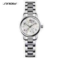 SINOBI Fashioh Women Wrist Watches Golden Watchband Brand Luxury Ladies Quartz Clock Female Bracelet Watch