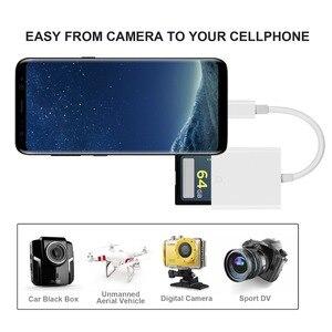 Image 2 - 2019 חדש USB 3.1 סוג C USB C כדי SD SDXC כרטיס מצלמה דיגיטלית קורא מתאם כבל עבור ה macbook טלפון סמסונג Huawei Xiaomi