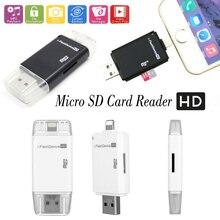Я флэш-Устройства накопитель USB ПК телефон Micro SD/TF Card Reader для iPhone 6 6 S 7 Plus 5 5S для iPad Pro 4 5 6 Mini 2 3 Air 2