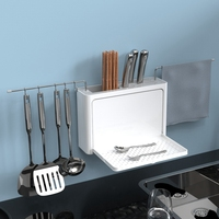 Creative Washable Dishes Draining Rack Kitchen Drainboard Organizer Storage Box Spoon Spatula Chopsticks Brush Holder Wipe stor