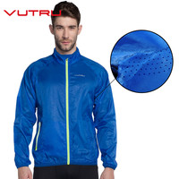 Vutru Men Running Jacket Windproof Breathable Quick Drying Running Jersey Quick Dry Outdoor Sports Coat V7M6007