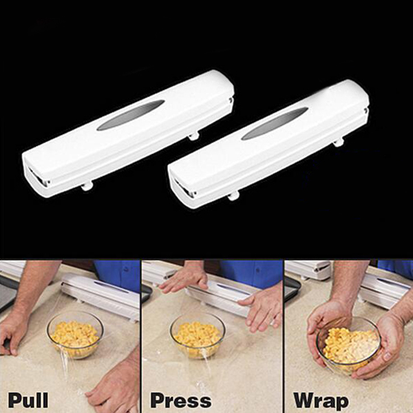 Plastic Wrap Dispenser With Cutter Food Cutter Aluminum Foil Parchment Paper Kitchen Holders High Quality Accessiories Tool
