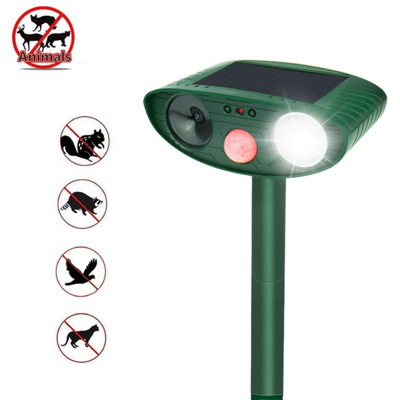 Ultrasonic drive Light bird Animal Pest Repellent cat drive Solar outdoor insect repellent useful for home and garden 2018