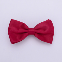HUISHI Solid Mens Bow tie 50pcs Per Lot One bag Solid Fashion Bowties Black Gold White Bow Tie Red Pink Blue White Classic Style