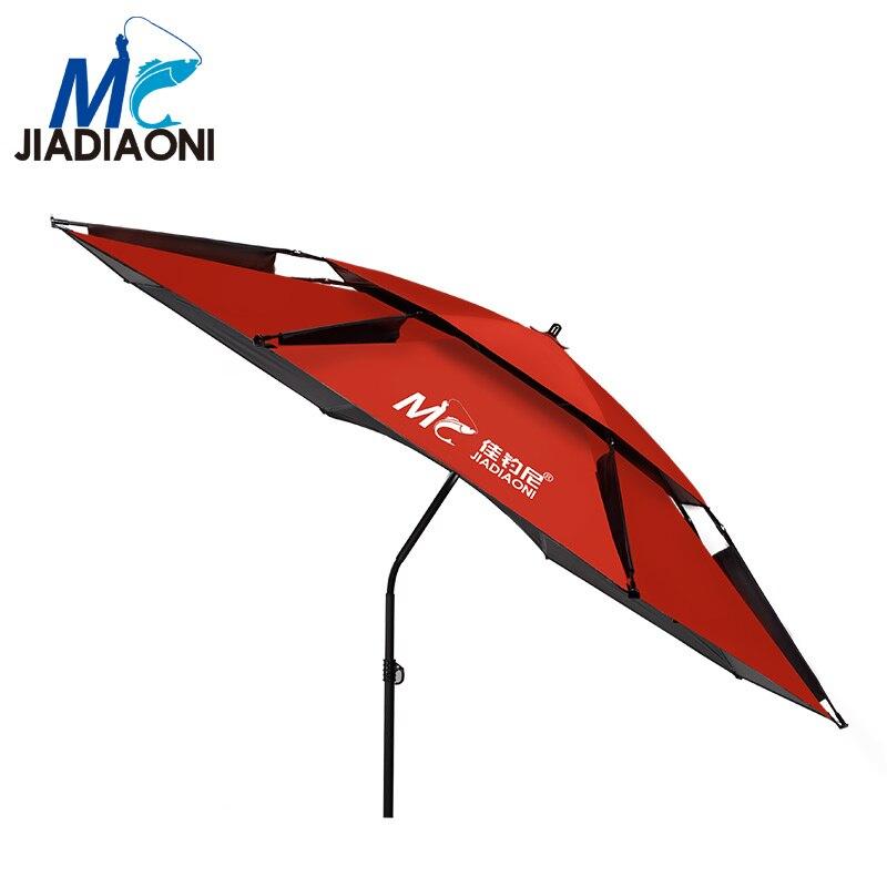 JIADIAONI 2m/2.2m/2.4m Black Rubber Cloth Outdoor Adjustable Ultraviolet-proof Sun Umbrella Large Fishing Umbrella