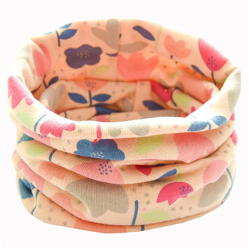 New Flowers Cotton Baby Scarf Spring Children Scarf Autumn Winter Boys Girls Neckerchief Kids O Ring Collar Neck Warmer Bufandas