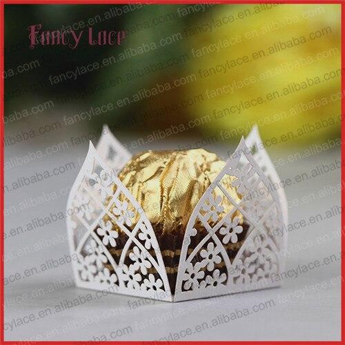 unids flor de corte de papel caja de chocolate mini envolturas de regalo de cumpleaos