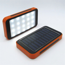 Solar Charger battery LED Camping lamp External solar power bank and plug in for Smartphone with