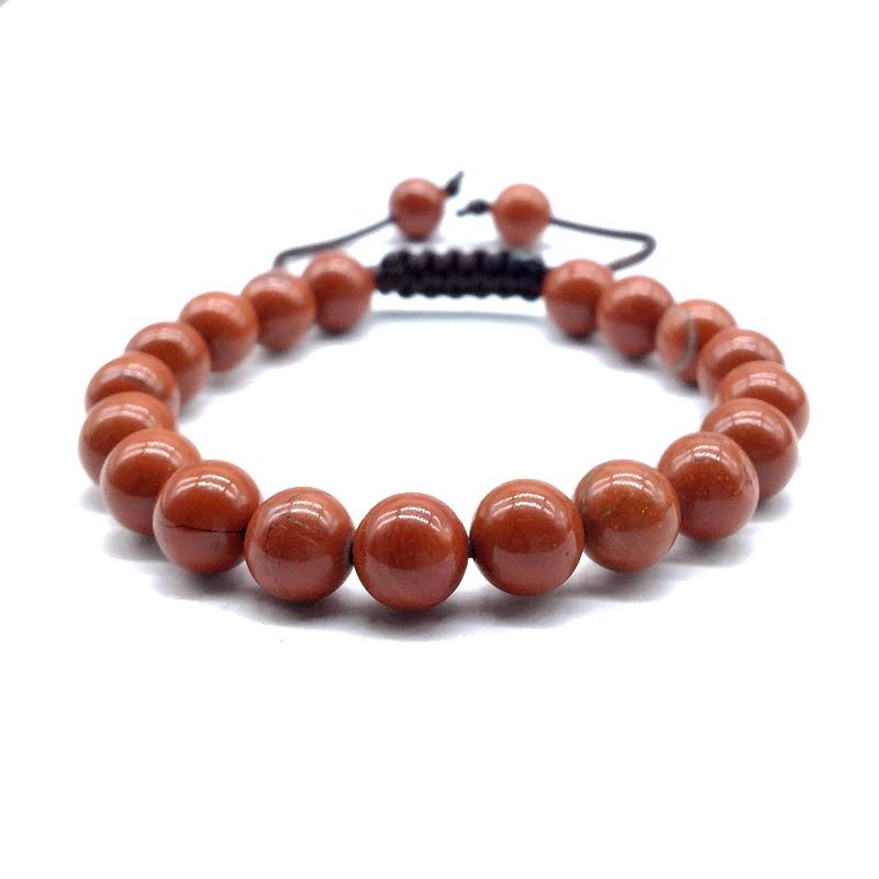 stone bead bracelet red jasper 8 mm