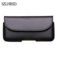SZLHRSD Men Belt Clip Genuine Leather Pouch Waist Bag Phone Cover For Xiaomi Mi Max 2