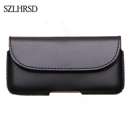 SZLHRSD hommes ceinture Clip en cuir véritable pochette taille sac téléphone couverture pour Xiao mi Max 3 Pro Max 2 étuis noir accessoire de cellule