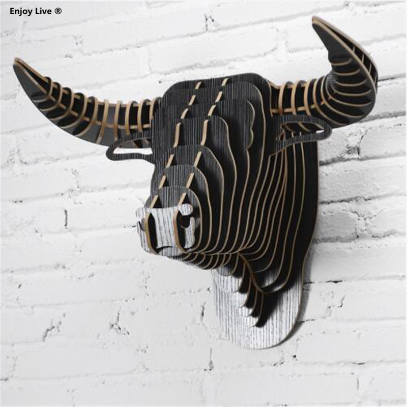 3d Wood Puzzle Diy Model Wall Hanging Creative Wooden