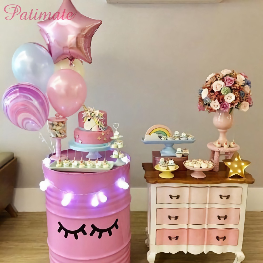 Detail Feedback Questions About PATIMATE Sleepy Unicorn Eyelash Stickers Birthday Party Theme Decor Baby Shower Room For Kids