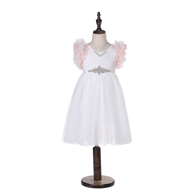 Mother & Kids Retail 2019 Girl Lace Tutu Kids Princess Mesh Wedding Party Dress Summer Floral Luxury Vest Dress Baby Girl Clothes Girls' Clothing