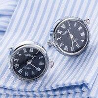 Nieuwe Collectie Real Horloge Manchetknopen VAGULA Klok manchetknopen Met Batterij tourbill Machine Core Mechanische Gemelos
