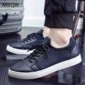 Hombres Zapatos Casuales Negro Blanco Plana Al Aire Libre Wariking Saft Zapatos Otoño de Los Nuevos Hombres Zapatos Casuales Tendencia de La Moda Coreana calidad
