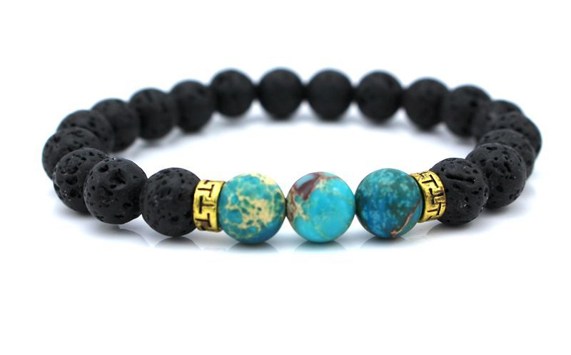 New Products Wholesale Lava Stone Beads Natural Stone Bracelet, Men Jewelry..