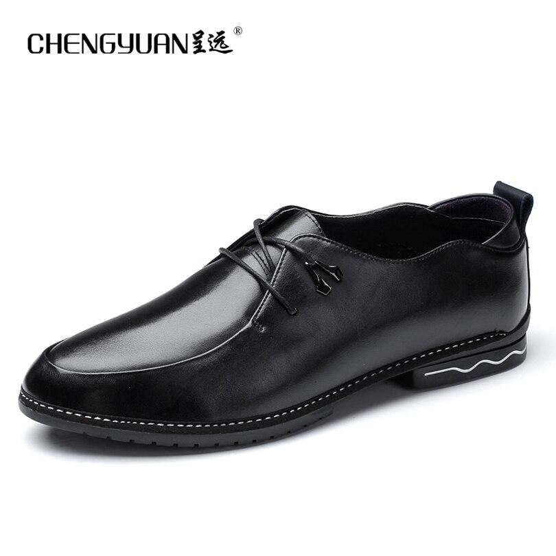 font b Men b font classic leather font b shoes b font simple comfortable flat