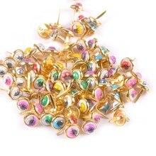 Fastener Brads Scrapbooking Brad-Accessories Embellishments Crafts Metal Golden Diy